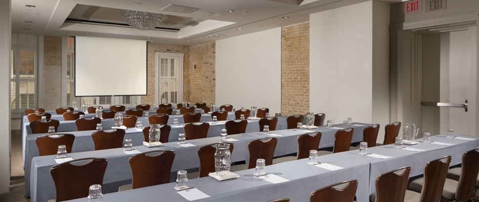 Verona I Classroom Style Meeting with Screen Hotel Valencia Riverwalk