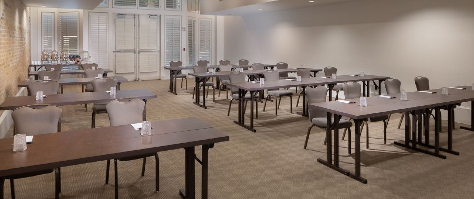 Classroom set-up at Hotel Valencia Riverwalk