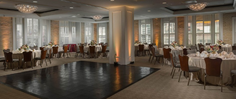 Ballroom with dance floor at Hotel Valencia Riverwalk